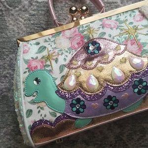 Irregular choice opal sequin floral turtle bag